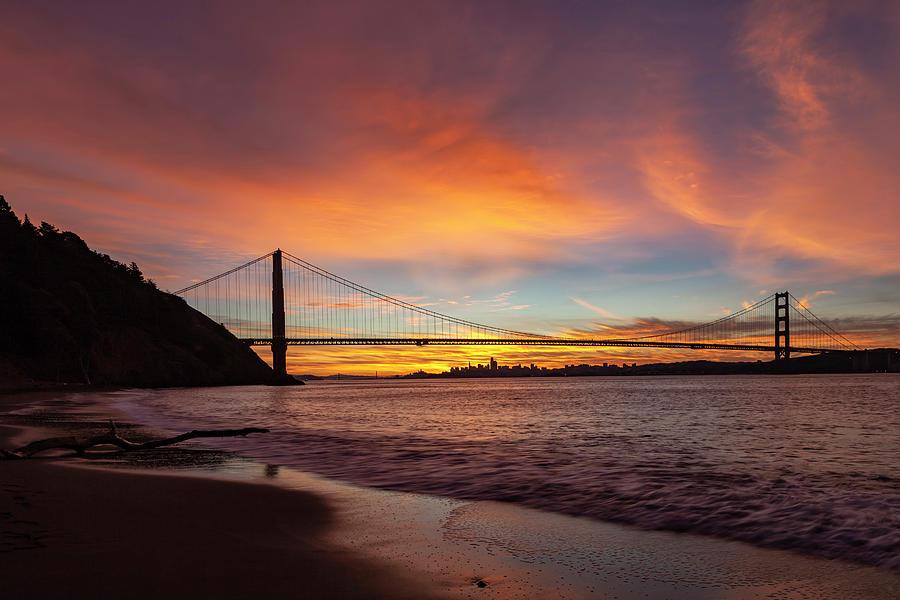 Golden Gate Bridge At Dawn Photograph
