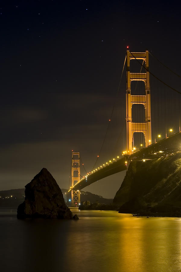 Golden Gate Bridge At Night Photograph By Mike Irwin