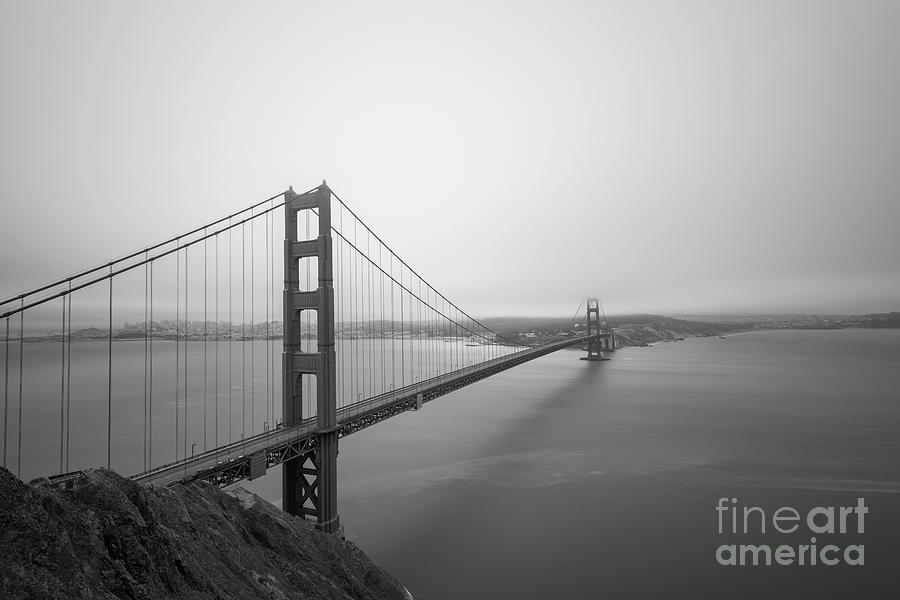 San Fransisco Photograph - Golden Gate Bridge Bw by Michael Ver Sprill