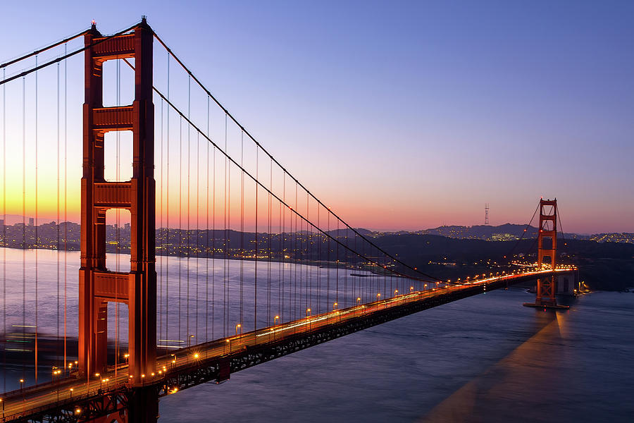 Golden Gate Photograph - Golden Gate Bridge during Sunrise by David Gn