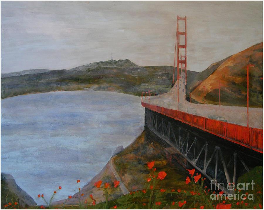 Golden Gate Bridge Painting - Golden Gate Bridge by Ellen Beauregard
