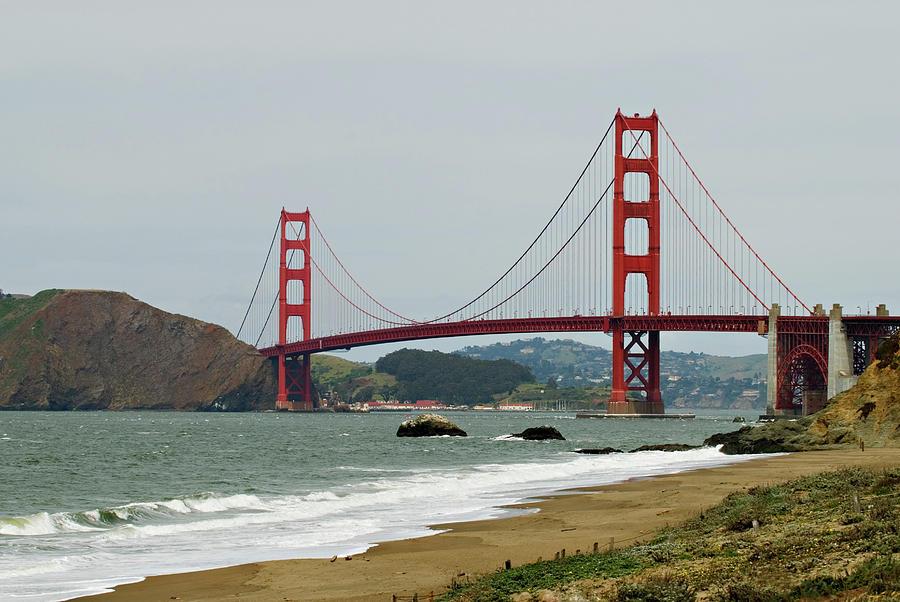 Golden Gate Bridge Photograph - Golden Gate Bridge From Baker Beach by Renee Hong