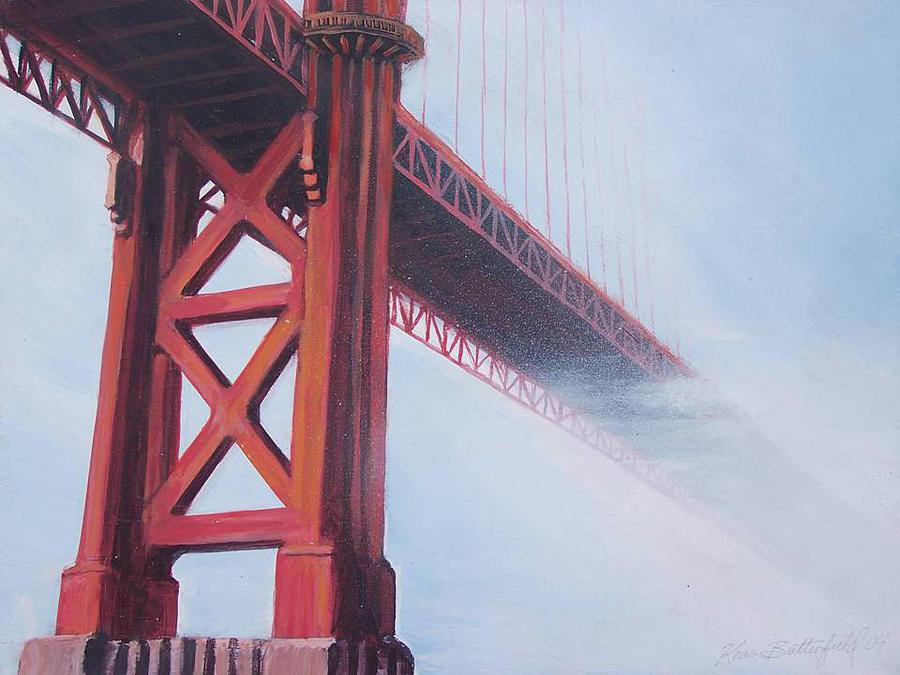 Tourist Attractions Painting - Golden Gate Bridge by Kean Butterfield
