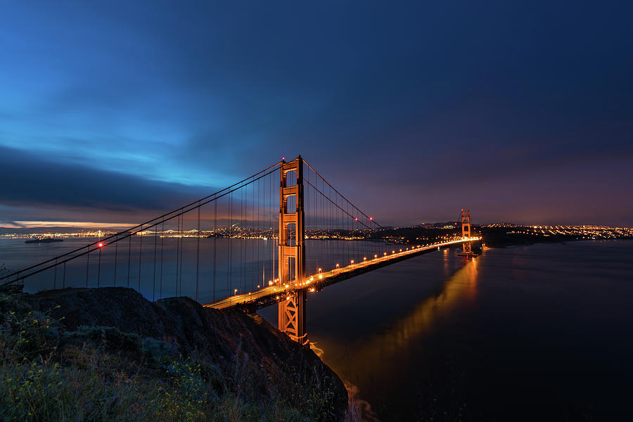 Bridge Photograph - Golden Gate Bridge by Larry Marshall
