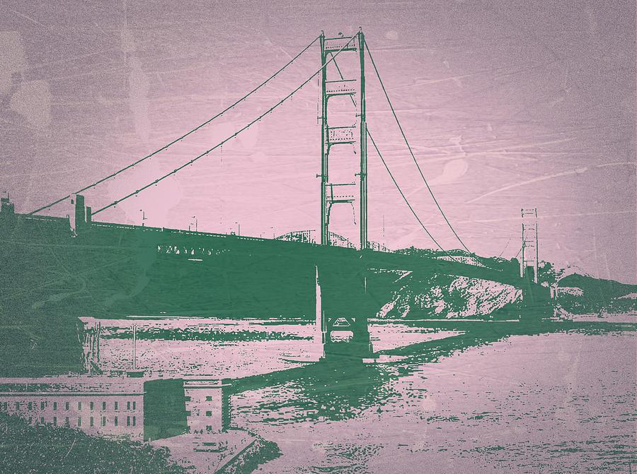Golden Gate Bridge Photograph - Golden Gate Bridge by Naxart Studio