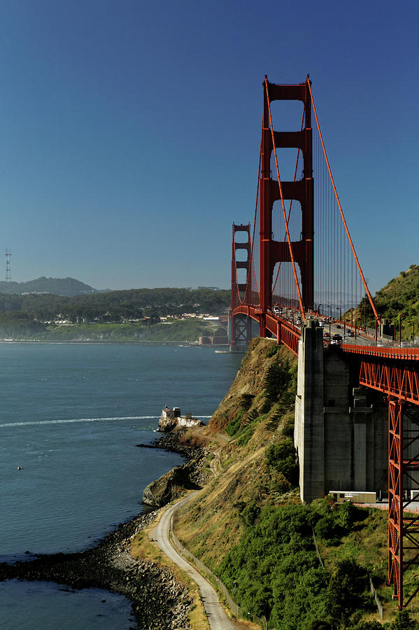 Golden Gate Bridge - North view by Harold Rau