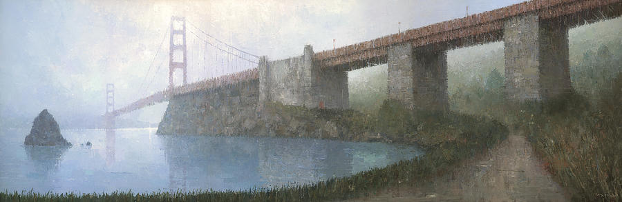 Painting Painting - Golden Gate Bridge by Steve Mitchell