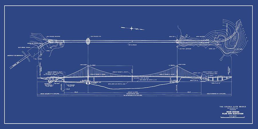 Lovely Golden Gate Bridge Drawing   Golden Gate Bridge   Study For Expansion   San  Francisco,