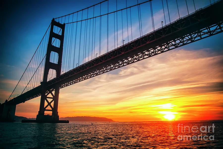 Golden Gate Bridge Sunset Photograph