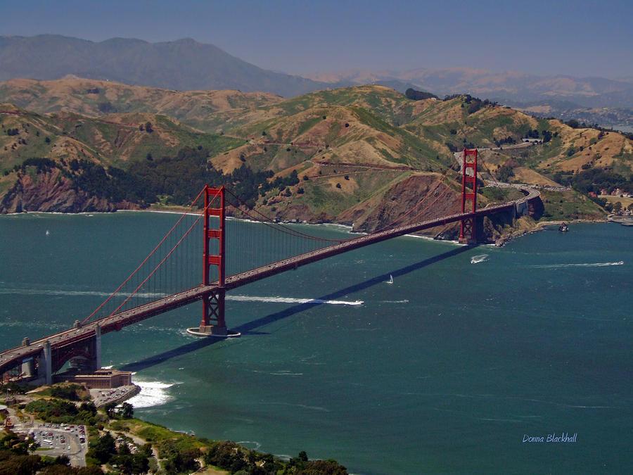 Golden Gate Bridge Photograph - Golden Gate by Donna Blackhall