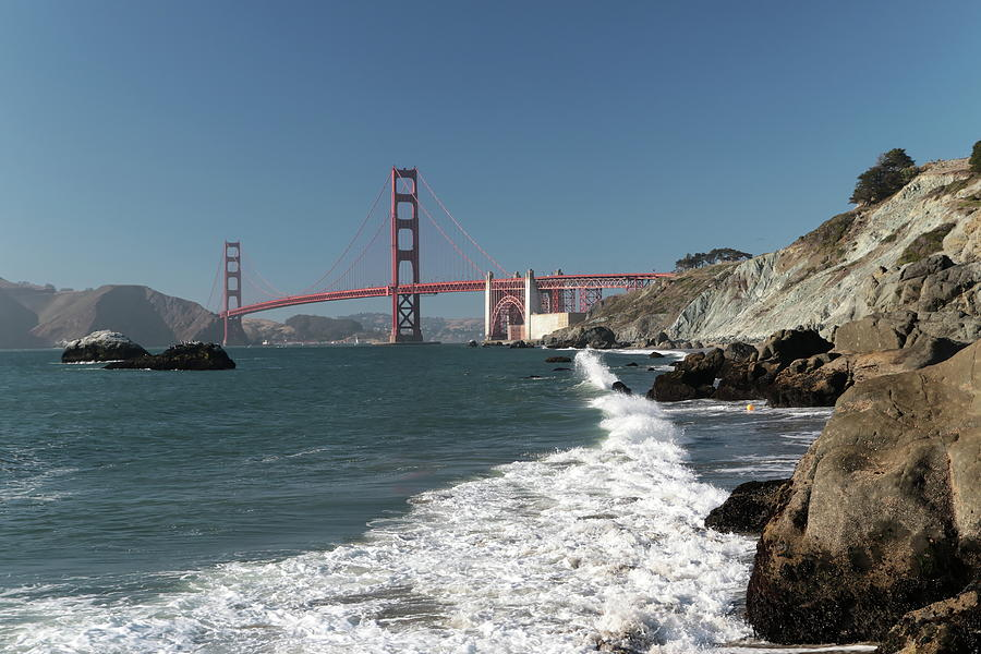 Golden Gate from Baker Beach by Harold Rau