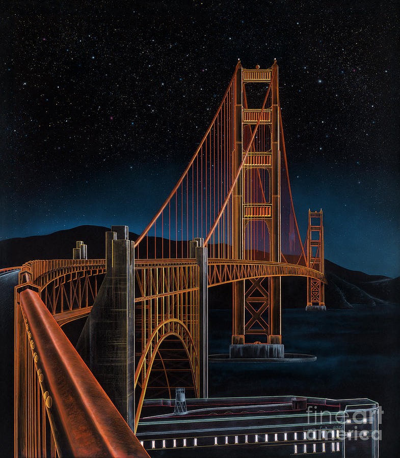Lynette Cook Painting - Golden Gate by Lynette Cook