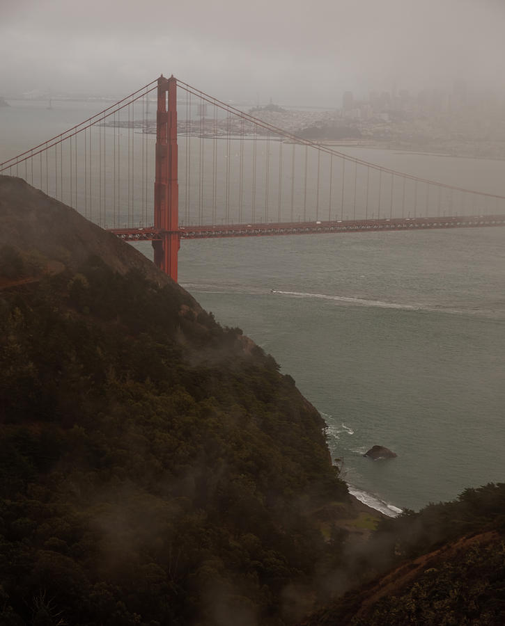 Golden Gate Bridge Photograph - Golden Gate On A Grey Day by Patrick  Flynn