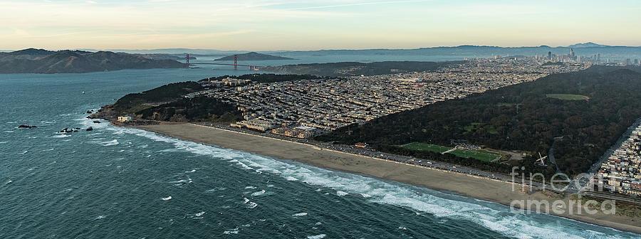San Francisco Bay Photograph - Golden Gate Park And Ocean Beach In San Francisco by David Oppenheimer