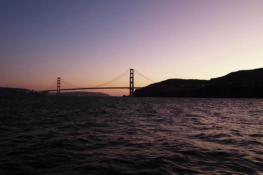 Golden Gate Sunset by Aurica Voss