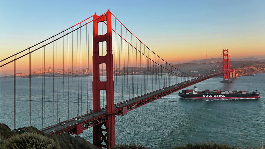 Golden Gate Sunset by Harold Rau