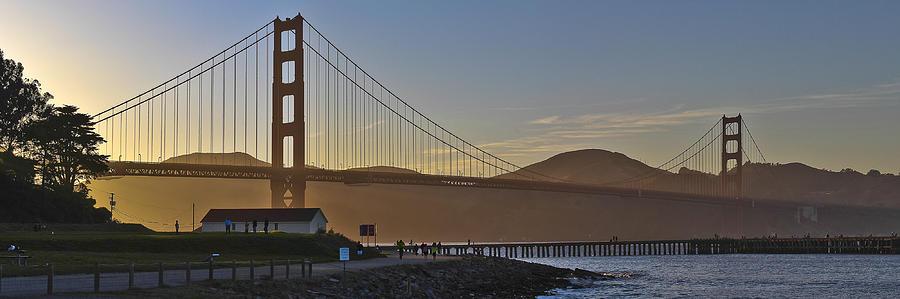 Landscape Photograph - Golden Gate Sunset by John Willy
