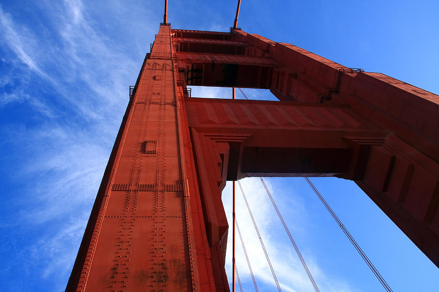 Abstract Photograph - Golden Gate Tower by Aidan Moran