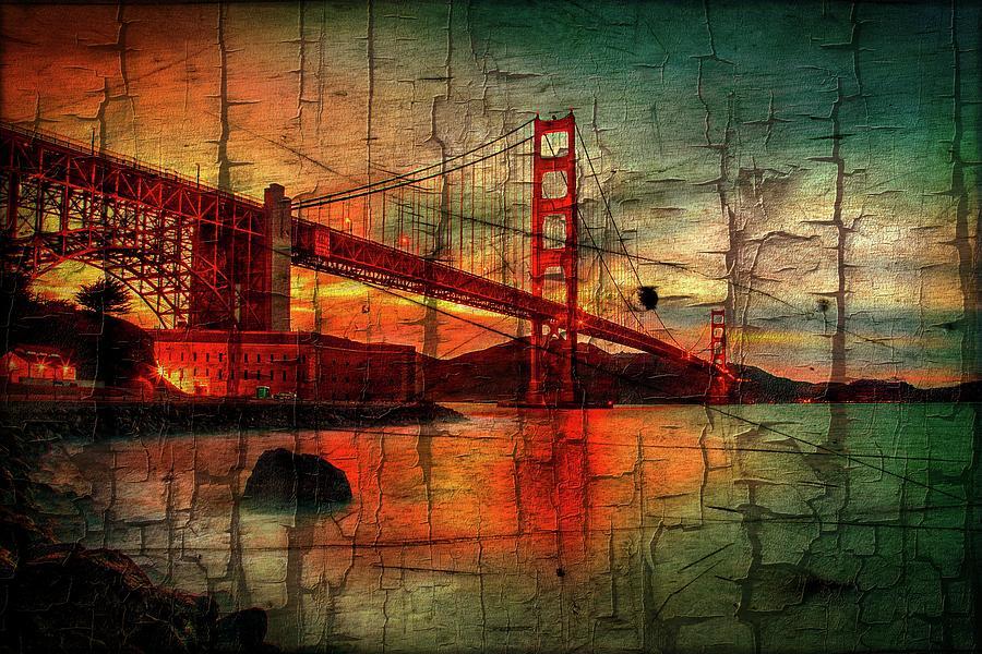 Golden Gate Bridge Photograph - Golden Gate Weathered by Az Jackson