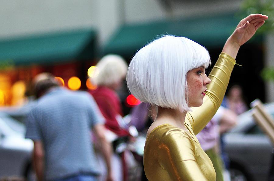 Living Statue Photograph - Golden Girl by Joe Longobardi