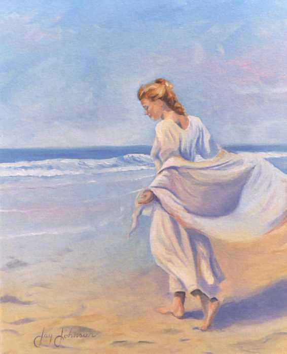 Beach Painting - Golden Girls by Jay Johnson