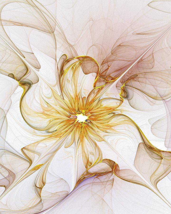 Fractals Digital Art - Golden Glow by Amanda Moore