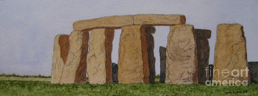 Stonehenge Painting - Golden Glow- Stonehenge by Thom Glace