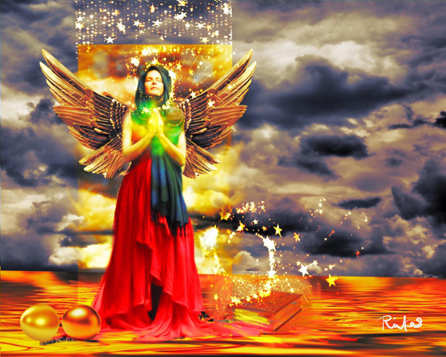 Golden Goddess of Gratitude by Diana Riukas