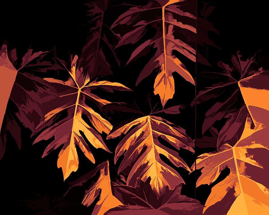 Digital Design Digital Art - Golden Growth by Heidi Fickinger