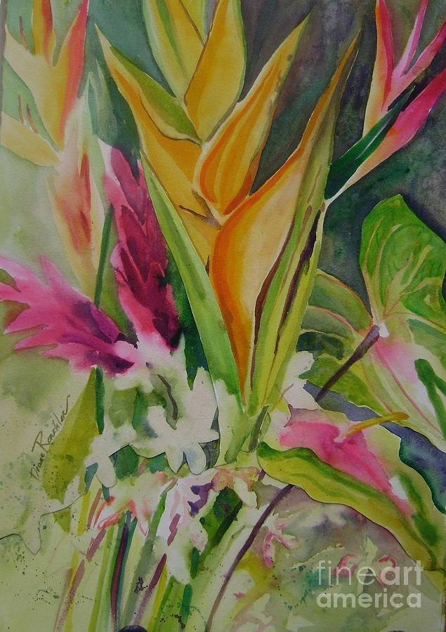 Floral Painting - Golden Haleconia by Diane Renchler