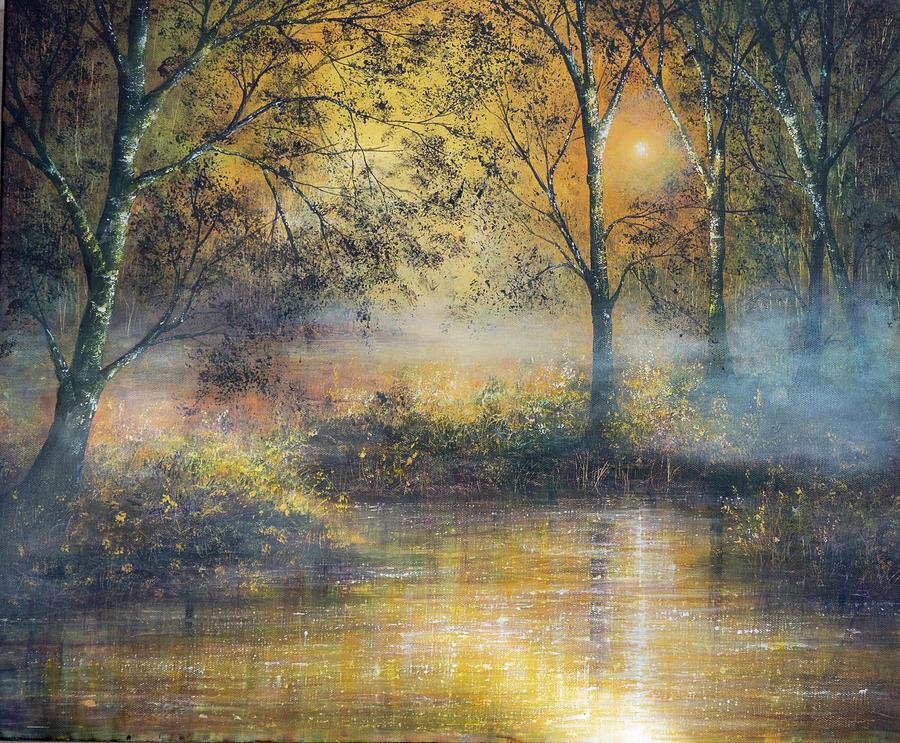 Romantic Painting - Golden Haze by Ann Marie Bone