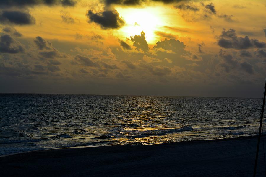 Ocean Photograph - Golden Heavens by Tamra Lockard