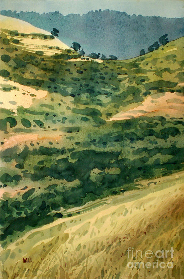 California Painting - Golden Hills by Donald Maier