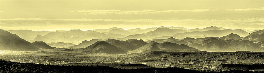 Landscape Photograph - Golden Hills Of The Tonto by Mike Herdering