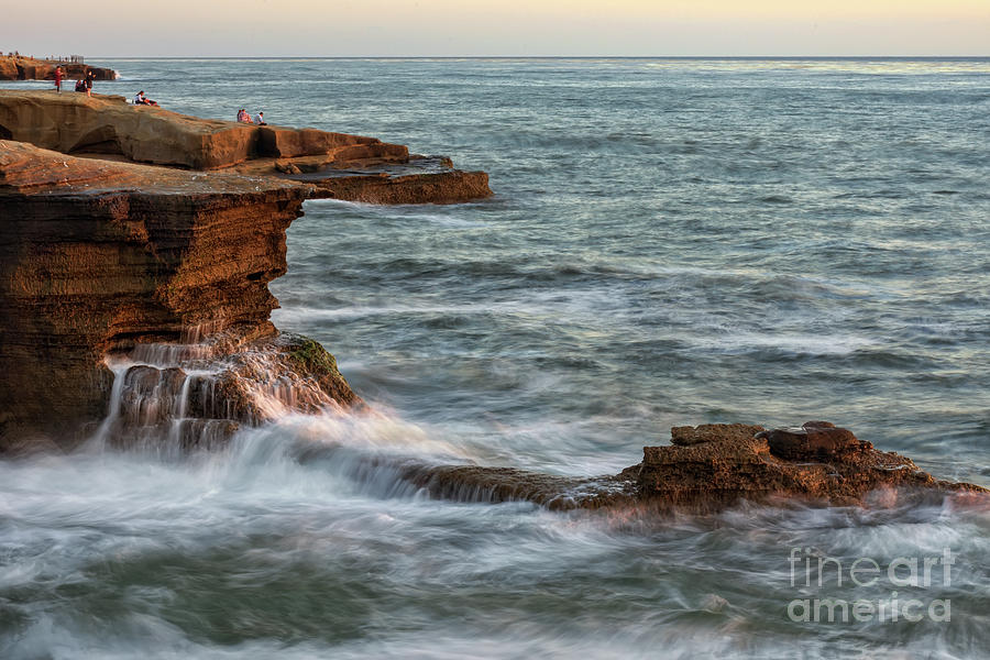 Golden Photograph - Golden Hour At Sunset Cliffs by Eddie Yerkish