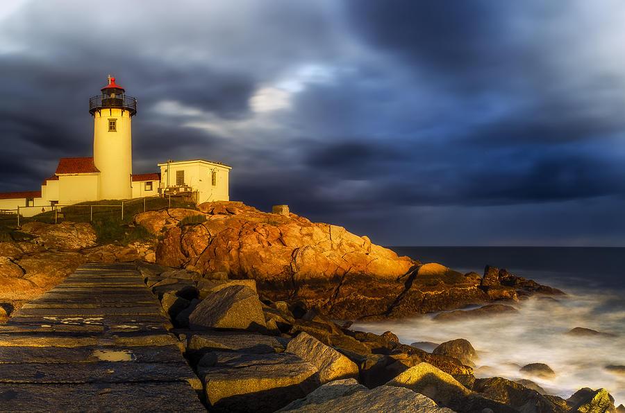 Lighthouse Photograph - Golden Hour by Mark Papke