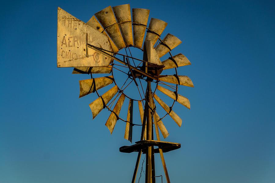 Golden Hour Windmill 2 Photograph