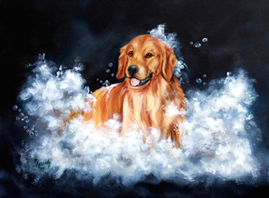 Golden in the Bath by Meg Keeling