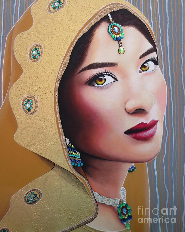 Golden Indian Bride by Malinda Prudhomme