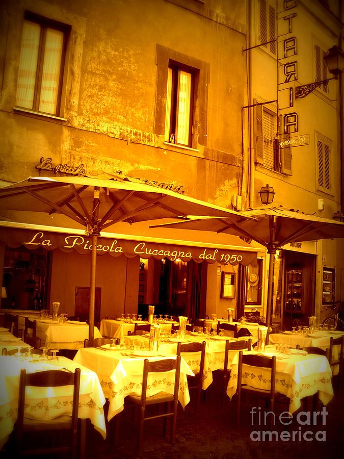 Italy Photograph - Golden Italian Cafe by Carol Groenen