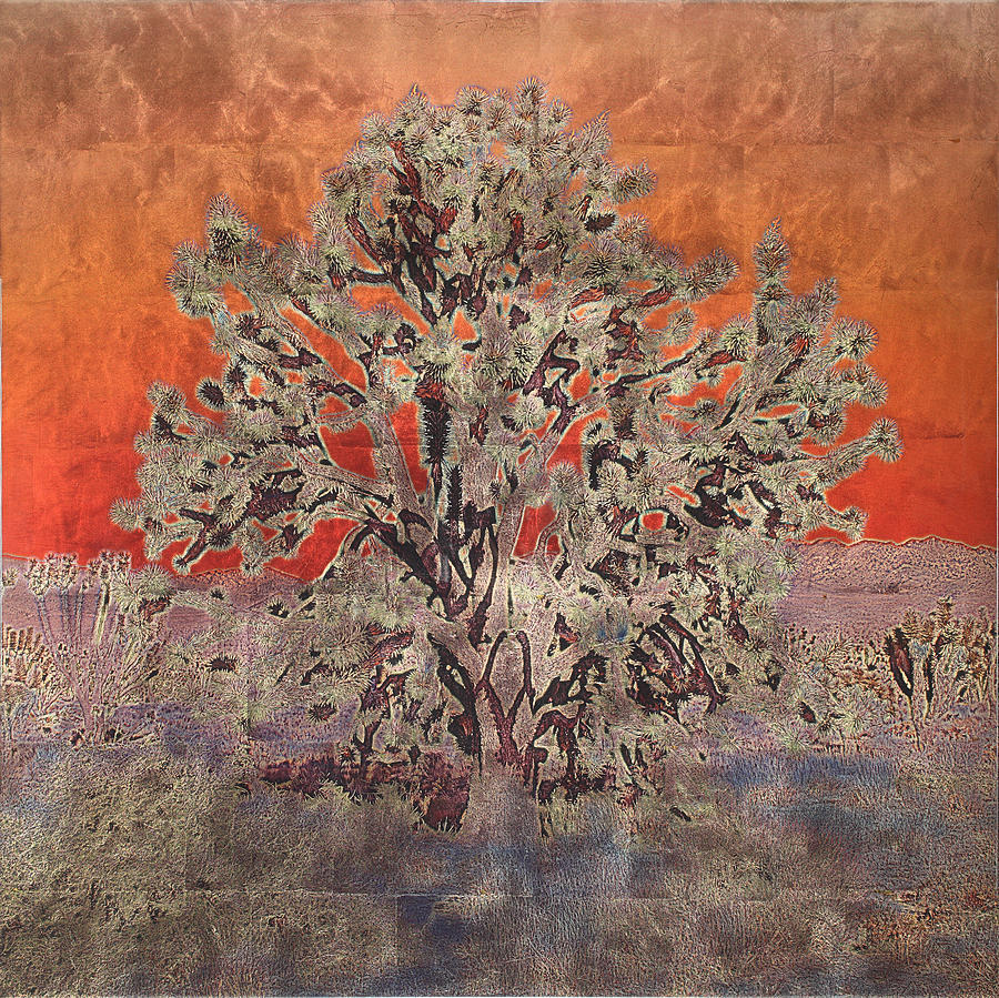 Trees Mixed Media - Golden Joshua Tree by Mark Stephenson