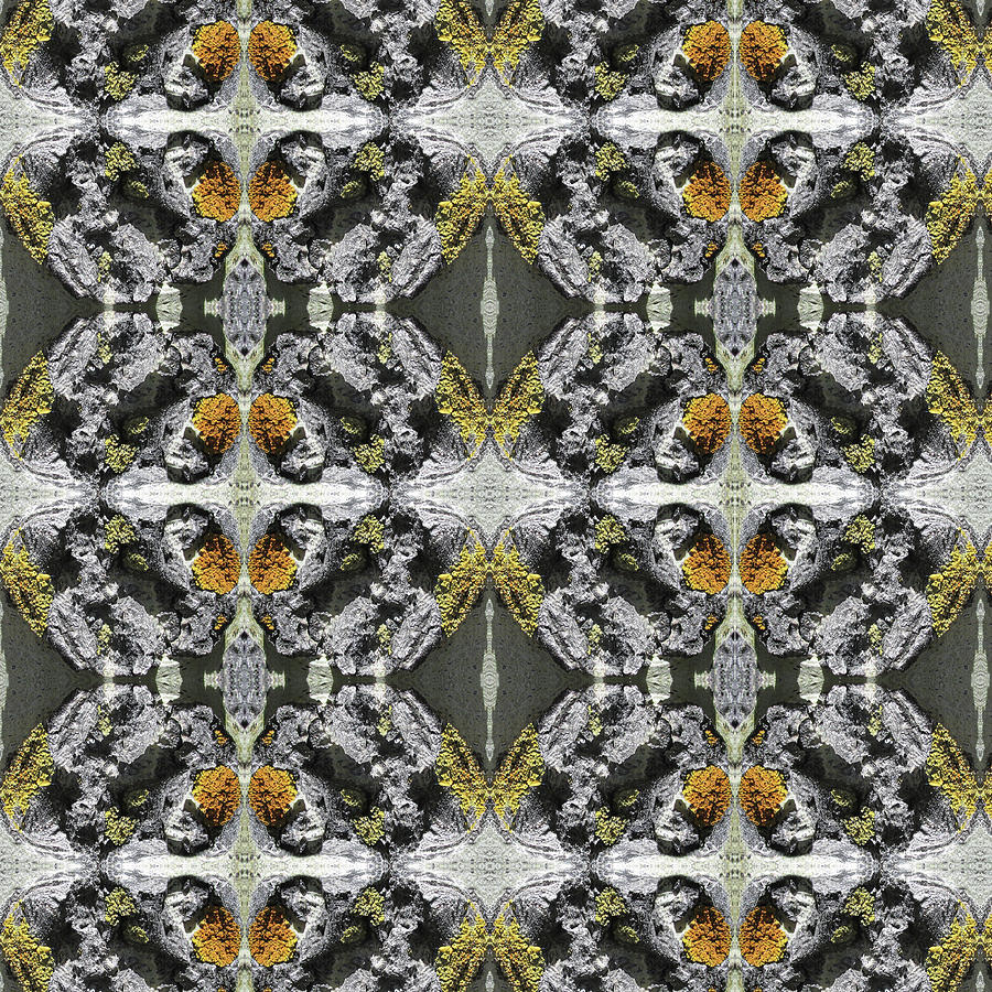Golden Kaleidoscope Texture v1 by Julia L Wright
