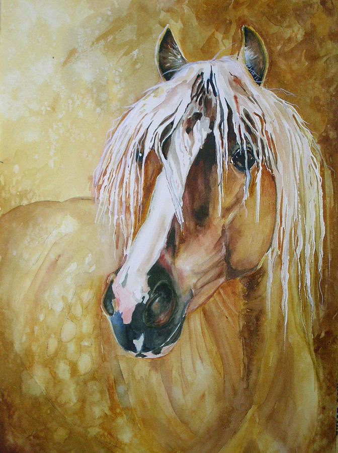 Equine Painting - Golden Lance by Gina Hall