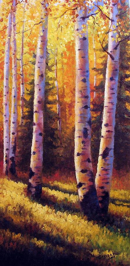 Light Painting - Golden Light by David G Paul
