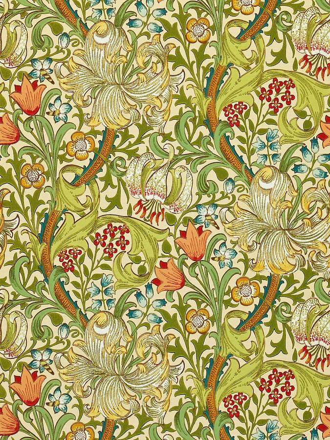 Golden Lily Painting By William Morris