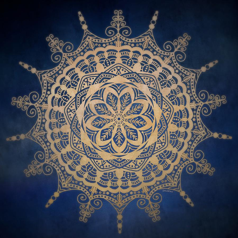 Golden Mandala Mixed Media