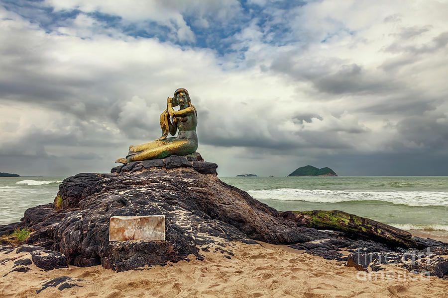 Songkhla Photograph - Golden Mermaid Thailand by Adrian Evans