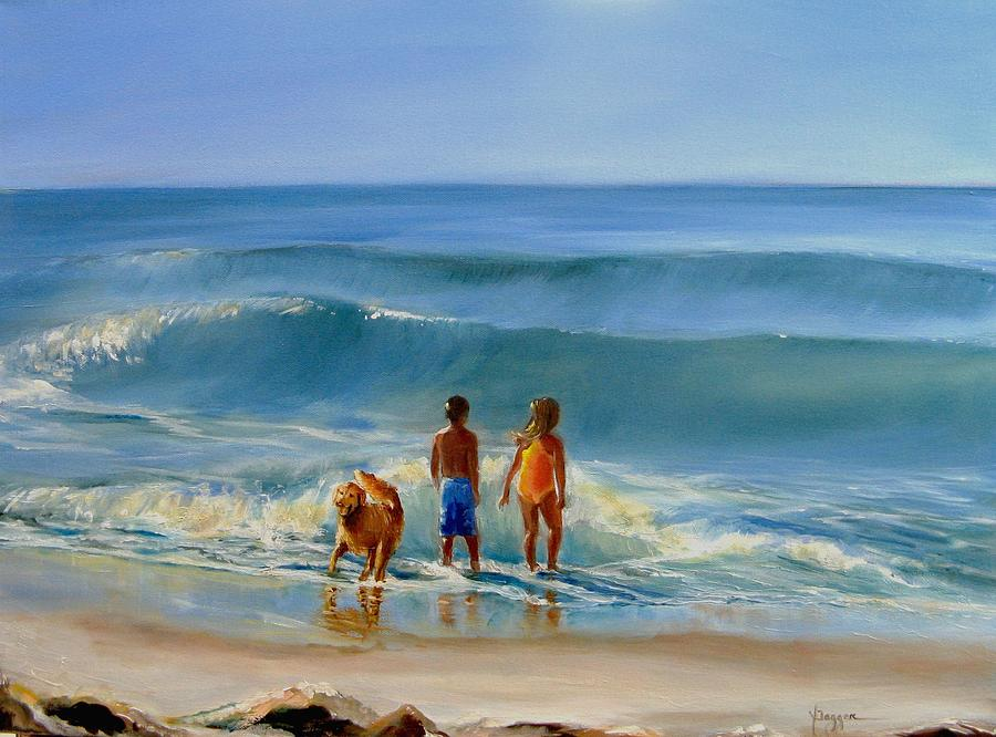 Seascape Painting - Golden Moment by Yvonne Dagger