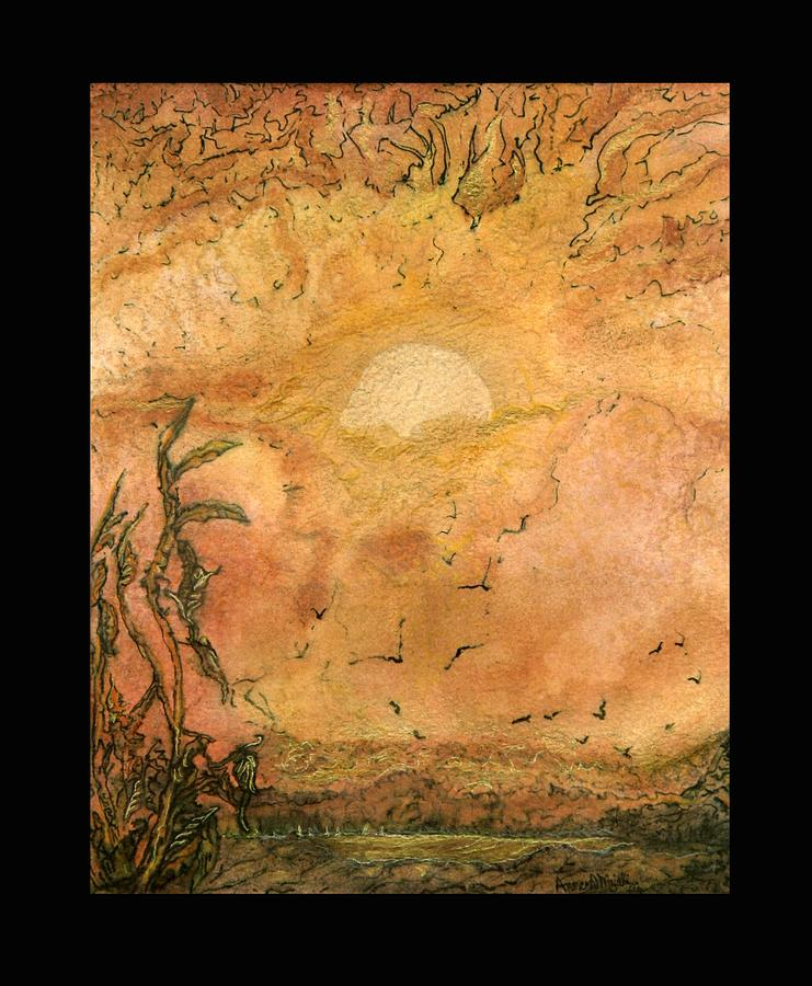 Sunrise Painting - Golden Morn by Anne-D Mejaki - Art About You productions