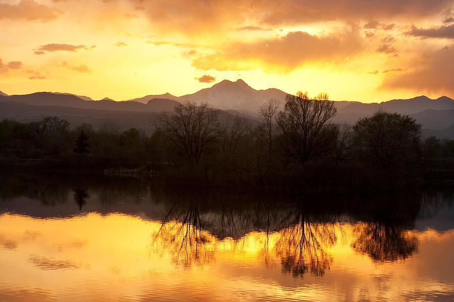 Longs Peak Photograph - Golden Ponds Longmont Colorado by James BO  Insogna